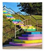 Rainbow Steps Fleece Blanket