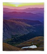 Rainbow Sunrise Fleece Blanket