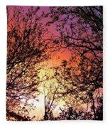 Rainbow Sunset Fleece Blanket