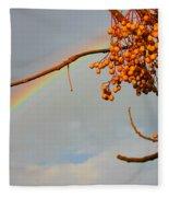 Rainbow Through Tree Fleece Blanket