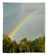 Rainbow To The Clouds Fleece Blanket