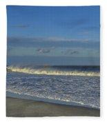 Rainbow Wave Seaside New Jersey Fleece Blanket