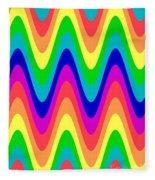 Rainbow Waves Fleece Blanket