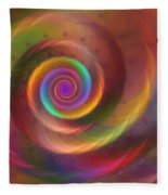 Rainbow Whispers Fleece Blanket