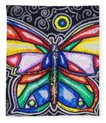 Rainbows And Butterflies Fleece Blanket