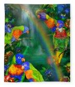 Rainbows In Paradise Fleece Blanket