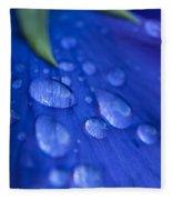 Raindrop Pansy Fleece Blanket