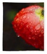 Raindrops And Poppy Fleece Blanket