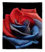 Raindrops On Rose Fleece Blanket