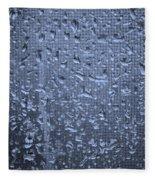 Raindrops On Window I Fleece Blanket