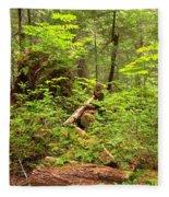 Rainforest Green Everywhere Fleece Blanket