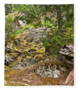 Rainforest Rock Slide Fleece Blanket