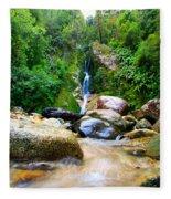 Rainforest Stream New Zealand Fleece Blanket