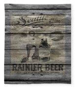 Rainier Beer Fleece Blanket