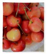 Rainier Cherries Fleece Blanket