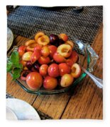 Rainier Cherries - Yummy Fleece Blanket