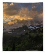 Rainier Evening Skies Drama Fleece Blanket