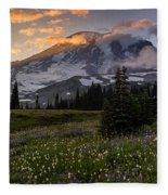 Rainier Meadows Splendor Fleece Blanket