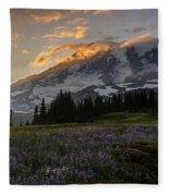 Rainier Purple Lupine Carpet Fleece Blanket