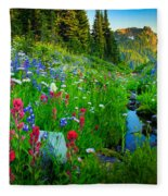 Rainier Wildflower Creek Fleece Blanket