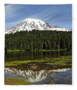 Rainier's Reflection Fleece Blanket