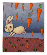 Raining Carrots Fleece Blanket