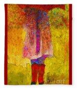 Raining Sunshine Fleece Blanket