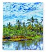 Rainy Afternoon In Kona Fleece Blanket