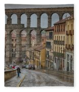 Rainy Afternoon In Segovia Fleece Blanket