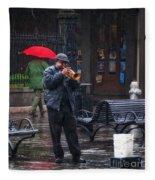 Rainy Day Blues New Orleans Fleece Blanket