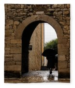 Rainy Day In Provence France Fleece Blanket