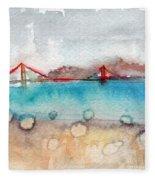 Rainy Day In San Francisco  Fleece Blanket by Linda Woods