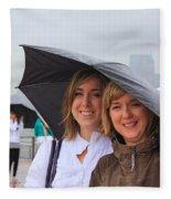 Rainy Day In The Big City Fleece Blanket