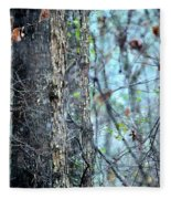 Rainy Day In The Forest Fleece Blanket