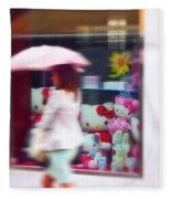 Rainy Day Kitty Fleece Blanket