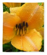 Rainy Day Lily Fleece Blanket