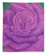 Rainy Day Rose Fleece Blanket