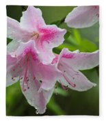 Rainy Day Series - Pink On Pink Azaleas Fleece Blanket