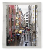 Rainy Day Shopping Fleece Blanket