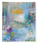 Rainy Garden Fleece Blanket