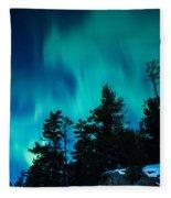 Rainy Lake Lights Fleece Blanket