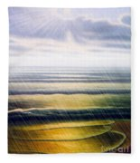 Rainy Seascape Fleece Blanket