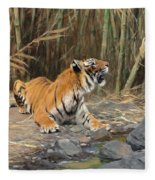 Raising His Voice Fleece Blanket