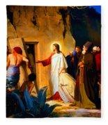 Raising Of Lazarus Fleece Blanket