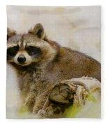 Rakish Raccoon  Fleece Blanket