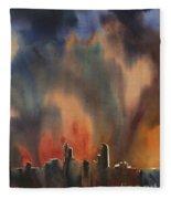 Raleigh Thunderstorm Fleece Blanket