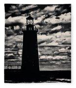 Ram Island Ledge Light Fleece Blanket