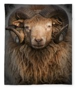 Ram Portrait Fleece Blanket