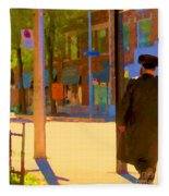 Ramacieri Soligo Building Supplies Rue Van Horne Outremont Montreal Street Scene Art Carole Spandau Fleece Blanket