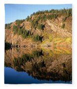 Rampart Ridge In Rachael Lake Fleece Blanket